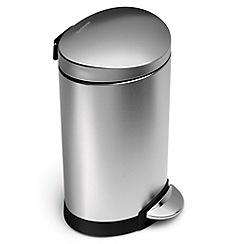 Simplehuman - Silver 6 litre pedal bin