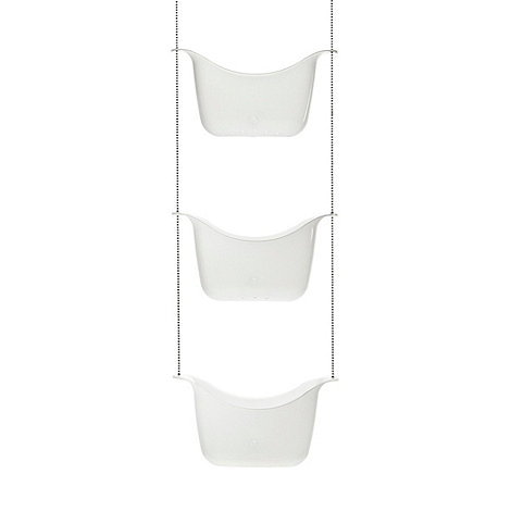 Umbra - White basket shower caddy
