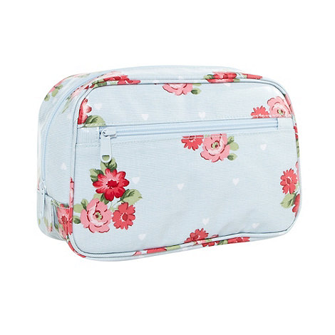 At home with Ashley Thomas - Light blue flower and hearts wash bag