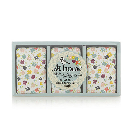 At home with Ashley Thomas - Set of three blackberry and fig soaps