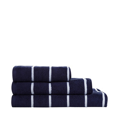 Debenhams - Navy +Coastal Stripe+ cotton towels