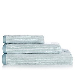 Debenhams - Aqua striped cotton towels