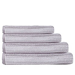 Home Collection - Lilac striped cotton towels