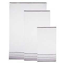 Home Collection - Lilac cotton pleat border towel