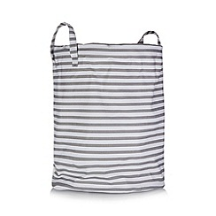 Debenhams - Grey striped laundry bin