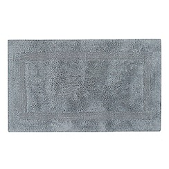 Debenhams - Light blue reversible luxury cotton bathmat