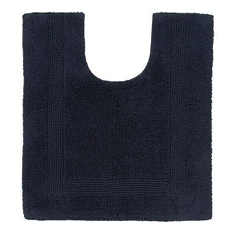 Home Collection - Navy textured reversible pedestal mat