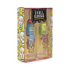 Debenhams - Skull Glasses And Mixer Set - 140ml
