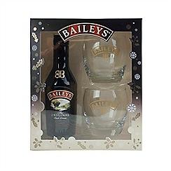 Baileys - 20CL Original Irish Cream Liqueur and Glasses