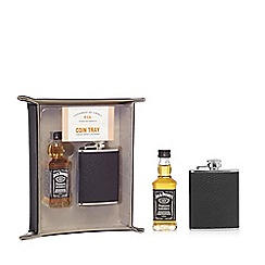 Jack Daniels - Coin tray with whiskey and hipflask