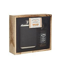 Debenhams - Jack Daniel's Hipflask And Whiskey Set - 5cl