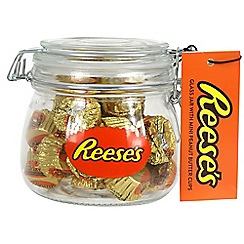 Reeses - Filled glass clip-lid jar