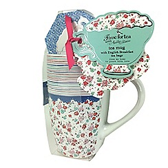 Debenhams - Floral Mug and Tea Set
