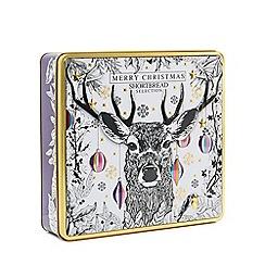 Debenhams - Merry Christmas' Stag Tin Shortbread Selection - 450g