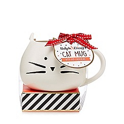 Debenhams - Cat Mug with Hot Chocolate
