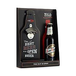 Debenhams - Wall Bottle Opener And Beer Set - 330ml