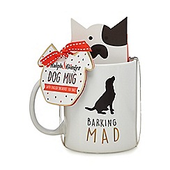 Debenhams - Barking Mad' Dog Mug With English Breakfast Tea Bags