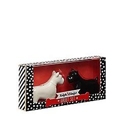 Debenhams - Black And White Dog Cruet Set