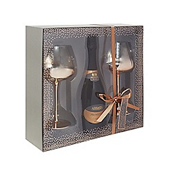 Debenhams - Set Of Two Wine Glasses With Prosecco 75cl