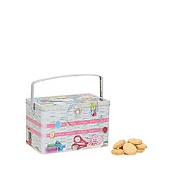 Debenhams - Sewing box biscuit tin with Danish cookies - 350g