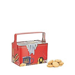 Debenhams - Tool box shaped biscuit tin with Danish cookies - 350g