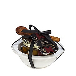 La Cucina - Olive Bowl With Acacia Spoon And Olives - 865g
