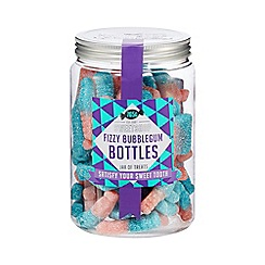 Debenhams - Sweet Shop Fizzy Bubble-gum Bottles Jar - 765g