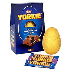 Nestle food drink gifts gifts debenhams nestle yorkie giant easter egg with 3 chocolate bars 336g negle Gallery