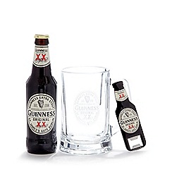 Guinness - Stout, glass tankard and bottle opener set