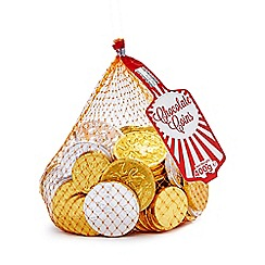 Debenhams - 400g milk and white chocolate coins