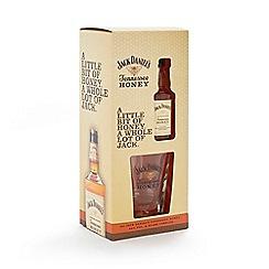 Jack Daniels - Tennessee honey liqueur and tumbler glass set