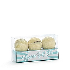 Debenhams - Set of three white chocolate golf balls