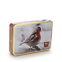 Stewarts - 150g luxury Scottish shortbread rounds in wintery robin tin