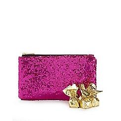 Debenhams - Pink clutch bag and chocolate praline set