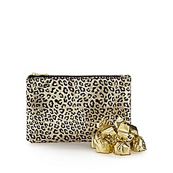 Debenhams - Gold clutch bag and chocolate set