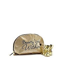 Debenhams - Glitter make up bag with chocolate