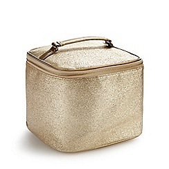 Debenhams - Gold vanity case