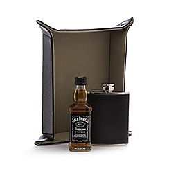 Jack Daniels - Jack Daniels whiskey, hip flask and money tray