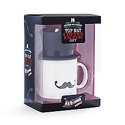 Debenhams - Top hat, coffee filter and mug gift set