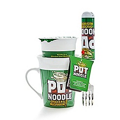 Pot Noodle - Chicken and Mushroom with mug and spinning fork set