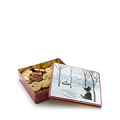 Debenhams - Scottish cottage Christmas biscuit tin