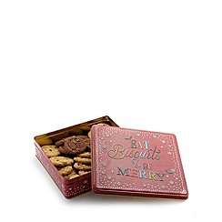 Debenhams - Eat Biscuits and be Merry biscuits selection in a tin