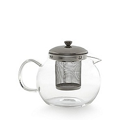 Debenhams - Glass teapot with infuser and loose leaf tea