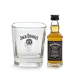 Jack Daniels - Jack Daniel's glass tumbler and 5cl miniature