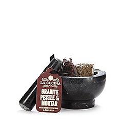 La Cucina - Granite pestle, mortar, peppercorn and cumin seed set