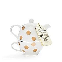 La Cucina - Cream polka dot tea for one set