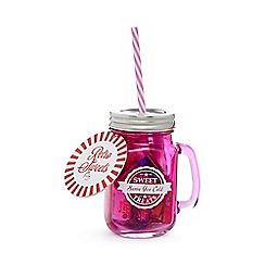 Sweet Shop - Pink glass mug of sweets