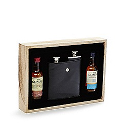 Debenhams - Malt whiskey and double hip flask set