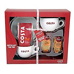Costa - Coffee set for two with Costa coffee - 200g and Costa biscuits - 2 x 60g