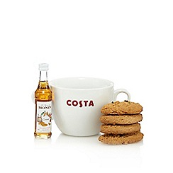 Costa - Giant mug set with Monin syrup - 5cl and Costa biscuits 60g